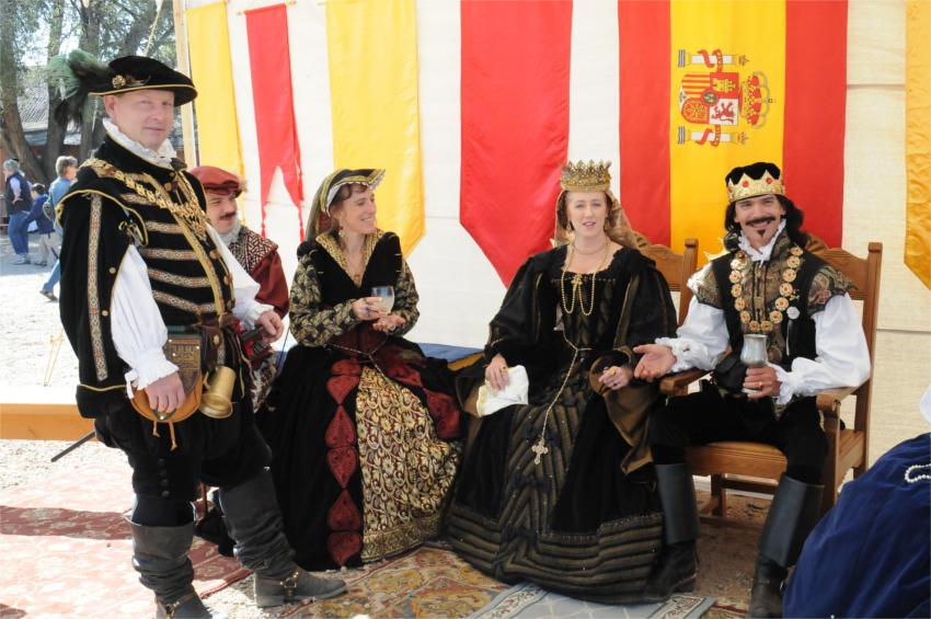 Renaissance Fair - Dressing the part of Royal Attendees.