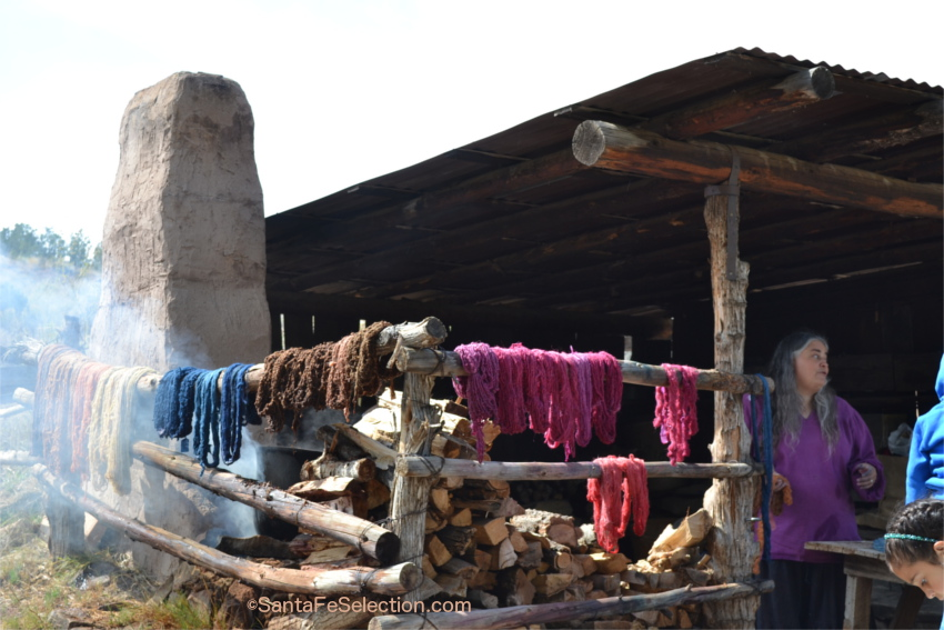 Authentic Wool Dyeing at Las Golondrinas.