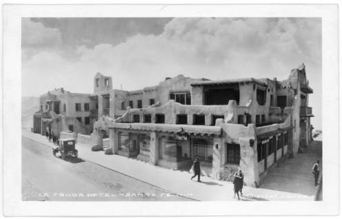1923 - La Fonda Hotel by Julian Gans. Photo courtesy of Palace of the Governors Photo archives. Neg # 040752