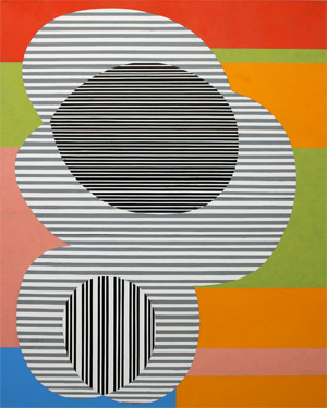 Fugue (004), 1988 Formatting Oil on canvas 90 x 72 in 229 x 182 cm