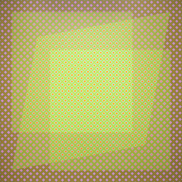 Tactile See-Through, 1974 Acrylic on canvas 36 x 36 in 91 x 91 cm David Richard Gallery