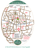 map of downtown santa fe logo