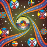 indigenous peoples day santa fe logo