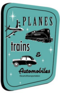planes trains automobiles logo